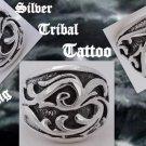 925 Silver Tribal Tattoo Chopper Biker Ring US sz 9.5