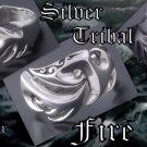 925 SILVER TRIBAL FIRE TATTOO BIKER KING RING US 9.75