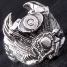Sterling Silver Tribal Piston Wing Biker Ring sz 10.25