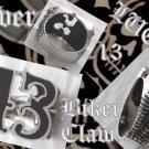 925 SILVER LUCKY 13 BIKER CLAW KING REBEL RING sz