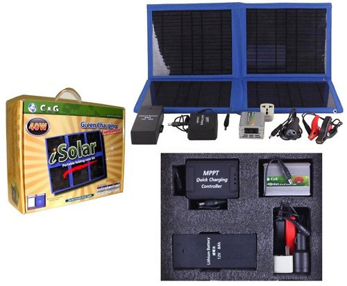 42W Solar Power Panel Kit Laptop Boat Battery Charger 90Wh