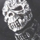 925 STERLING DEMON SABER TOOTH SKULL BIKER ROCKSTAR CHOPPER KING RING US SZ 12
