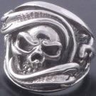 925 Sterling Silver Gecko Skull Biker Chopper Harly Lowrider Ring US sz 11.25