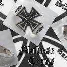 925 SILVER MALTESE CROSS BIKER KING CRUSADER KING CHOPPER RING US sz 10.75