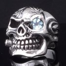 GOTHIC CROSS 925 STERLING SILVER BLUE ZIRCONIA OUTLAW KING RING US SZ 7 TO 15