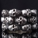 925 STERLING SILVER MULTI SKULL SOLID HEAVY ROCKSTAR BIKER RING US SZ 7 TO 15