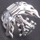 925 STERLING SILVER GUITAR ROCKBAND LIVE TO RIDE CHOPPER RING US sz 13.5