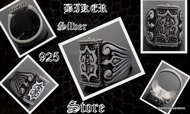 925 SILVER MEDIEVAL TRIBAL CRUSADER HEAVY SOLID OUTLAW CHOPPER RING US sz 13