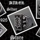 925 SILVER MEDIEVAL TRIBAL CRUSADER HEAVY SOLID BIKE RIDER RING US sz 12.5