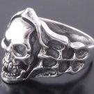 925 Silver Skull Bone Biker Chopper Ring US sz 7