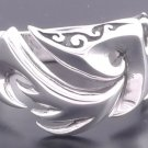 925 Sterling Silver Tattoo Fire Chopper Motorcycle Rider Ring us sz 7 to 15