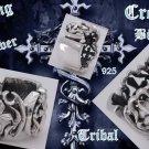 Sterling Silver Cross Biker Tribal Gothic Rockstar Ringus sz 7 to 15