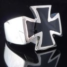 Silver Maltese Cross Biker Chopper king Ring us sz 7 to 15