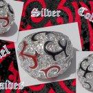 925 STERLIING SILVER COLORFUL ENAMEL CUBIC ZIRCONIA LADIES RING US 8.25, 7.5