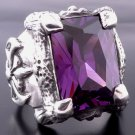 CLAW 925 STERLING SILVER BATTLE AXE PURPLE GEM OUTLAW LIVE TO RIDE RING 7 to 15