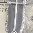 925 STERLING SILVER GOTHIC CROSS SHIELD BIKER CHOPPER KING MONEYCLIP