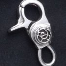 925 STERLING SILVER TRIBAL TATTOO FLOWER KEYRING WITH CLASP