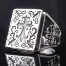 925 STERLING SILVER AMAZING GOTHIC CROSS BOOK BIKER KING RING US sz 9