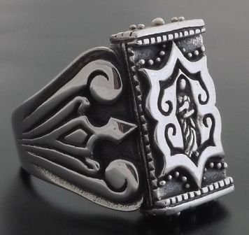 925 STERLING SILVER MEDIEVAL TRIBAL MOTORCYCLE RIDER RING US SZ 6-15
