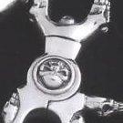"925 STERLING SILVER CHOPPER BIKER SKULL CLASP KEYRING 3.2"""