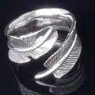 LADIES 925 STERLING SILVER FEATHER ANGEL RING US SZ 6 - 15