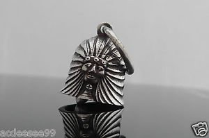 AMERICAN MOTORCYCLE RIDER PEWTER GUARDIAN LUCK CHOPPER BELL