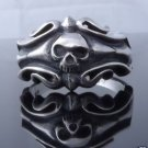 925 STERLING SILVER TRIBAL SKULL CRUSADOR BIKER RING SZ US sz 12