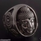 925 STERLING SILVER BUDHA OHM FLOWER RING US sz 7 to 15