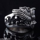 925 STERLING SILVER EAGLE STINGRAY BIKER RING  US SZ 5 TO 15