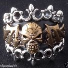 925 STERLING SILVER BAT WING SKULL RIDER BIKER RING US SZ 5 TO 15