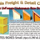 WOOD CRATES/BOXES (4pcs) HO/HOn3/HOn30-Scale CALIFORNIA FREIGHT & DETAILS