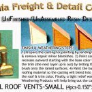 INDUSTRIAL ROOF VENTS-SMALL (4pcs) N/Nn3/1:160-Scale CALIFORNIA FREIGHT & DETAIL