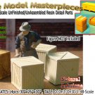WOODEN BOXES/CRATES-(4pcs) SCALE MODEL MASTERPIECES O/On3/On30/1:48 *NEW*