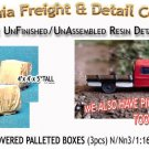 TARP COVERED PALLETED BOXES (3pcs) N/Nn3/1:160-Scale CALIFORNIA FREIGHT & DETAIL