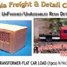 INDUSTRIAL TRANSFORMER-FLAT CAR LOAD (1pc) N/Nn3/1:160-Scale CAL FREIGHT *NEW