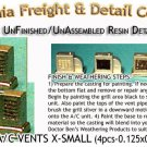 ROOFTOP A/C VENTS X-SMALL KIT (4pcs) N/Nn3/1:160-Scale CAL FREIGHT & DETAIL *NEW