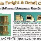 ROOFTOP A/C VENTS (4pcs) HO/HOn3/HOn30-Scale CALIFORNIA FREIGHT & DETAILS