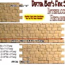 "INTERLOCKING STONE FOUNDATION/RETAINING WALL ""A-B-A""LabStone S/Sn42/O/On3/On30"