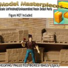 WAREHOUSE SHELVING-PALLETED BOXES/BAGS-OPEN (2pcs) HO-Scale Model Masterpieces