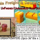 ROUND CITY/URBAN PLANTERS (3pcs) N/Nn3/1:160-Scale CALIFORNIA FREIGHT & DETAILS