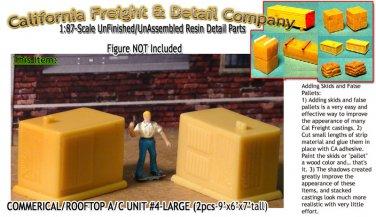 COMMERCIAL/ROOFTOP A/C UNIT #4-LARGE (2pcs) HO/HOn3/HOn30/1:87-Scale CAL FREIGHT
