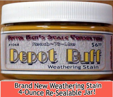 DEPOT BUFF WEATHERING STAIN-4oz Doctor Ben's FLOQUIL REPLACEMENT WOOD/PLASTIC