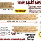 "INTERLOCKING STONE FOUNDATION WALL ""B"" Scale Model Masterpieces/Yorke S/On3/On30"