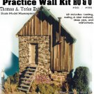 Practice Wall Kit w/How-To Booklet YORKE/Scale Model Masterpieces 1:43/On30/On3