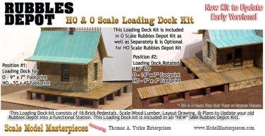LOADING DOCK KIT YORKE/Scale Model Masterpieces RUBBLES DEPOT HOn3/HOn30*NEW*