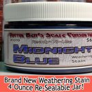 MIDNIGHT BLUE WEATHERING STAIN-4oz Doctor Ben's FLOQUIL REPLACEMENT Wood/PLASTIC