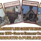 VOL 5, ISSUE1-6 1979 NARROW GAUGE & SHORT LINE GAZETTE MAGAZINE COMPLETE SET