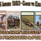VOL 9, ISSUE1-6 1983 NARROW GAUGE & SHORT LINE GAZETTE MAGAZINE COMPLETE SET