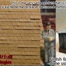 PRECISION SQUARE CITY SHAKE SHINGLES Doctor Ben's Peel-n-Stik On3/On2/On30 1:48