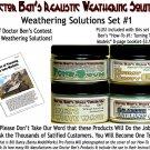 4-JAR WEATHERING SOLUTION SET #1 w/How-To Booklet-Doctor Ben's RTU HO/HOn3/1;87